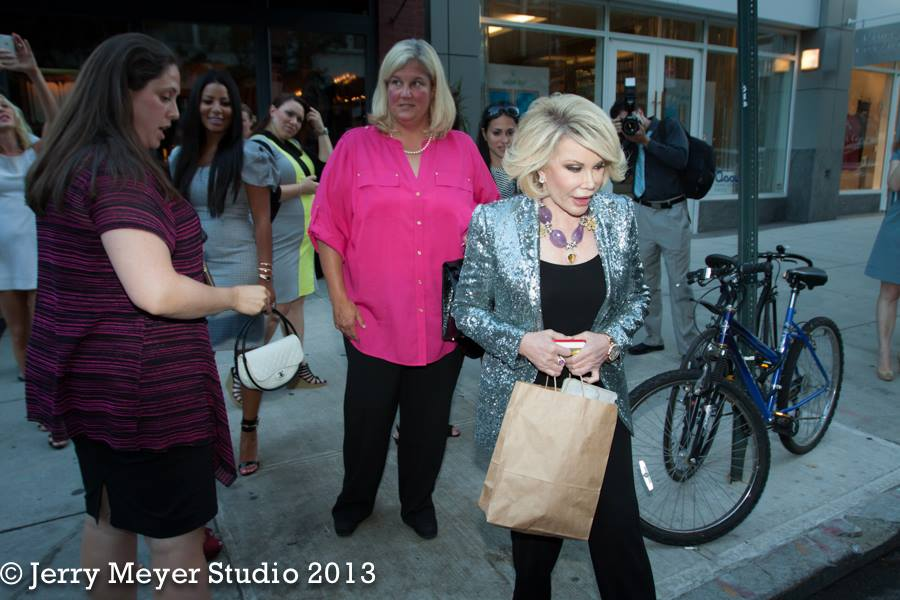 Joan Rivers leaving with a Drink N' Style bottle! Summer of 2013.